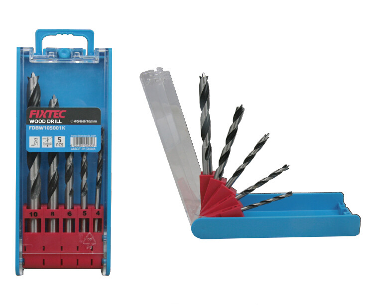 5pcs wood twist drill bits set